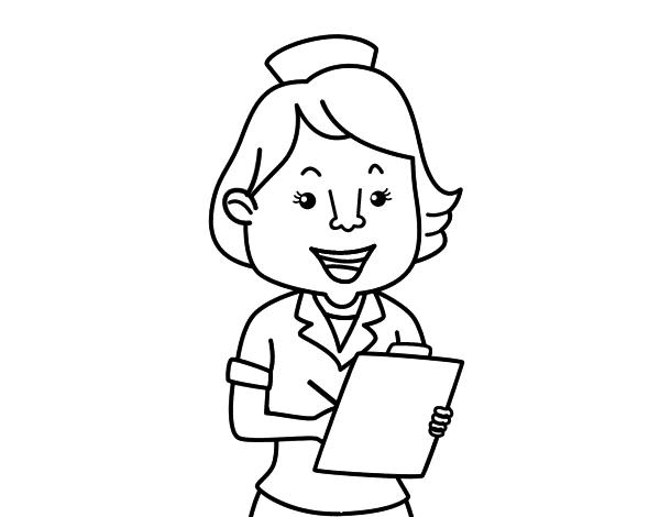 Free coloring pages of doctor nurse