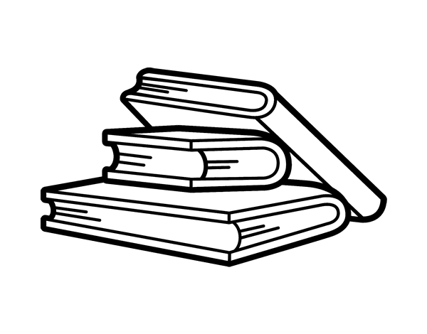 Stack Of Books Coloring Pages Coloring Pages