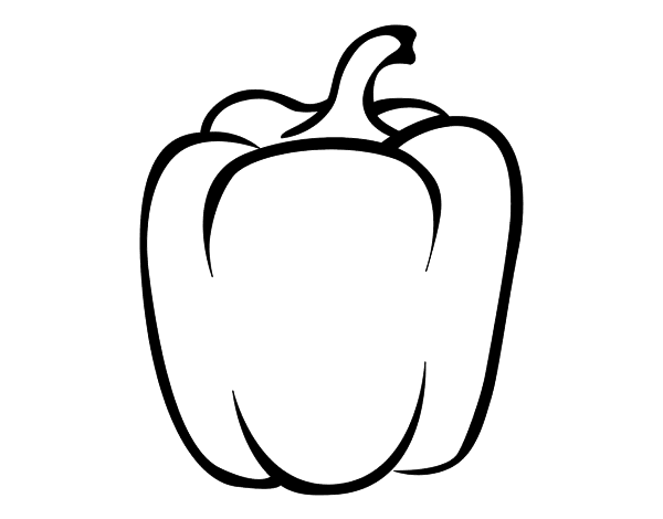 Capsicum Fruit Coloring Pages