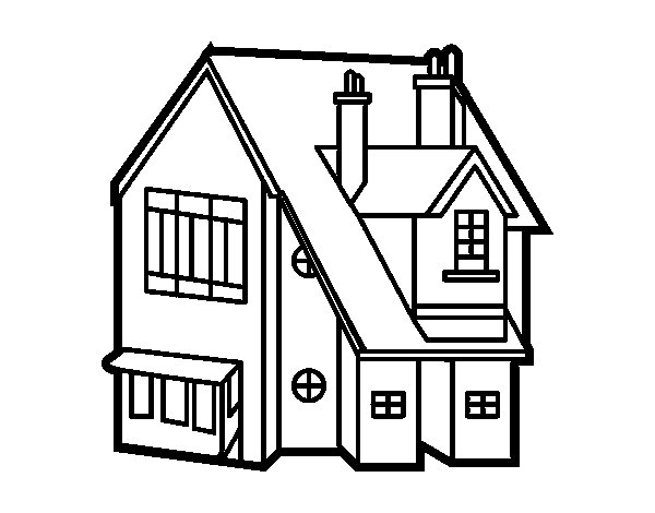 Free coloring pages of victorian houses
