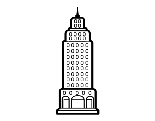 Comfortable Coloring Pages Empire State Building Only