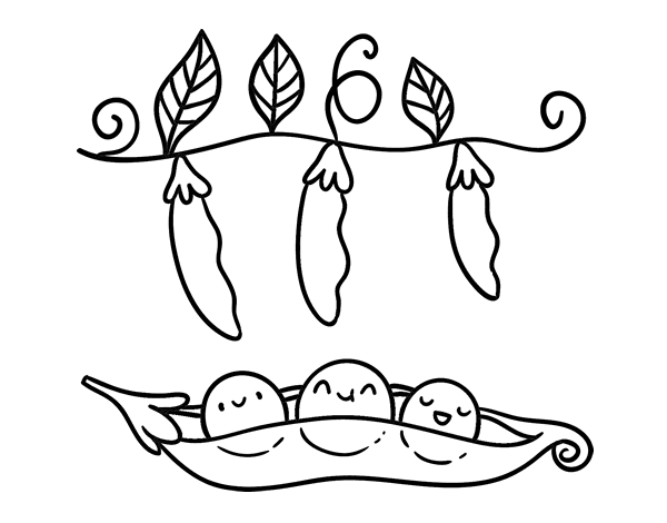 Peas 5 Coloring Page