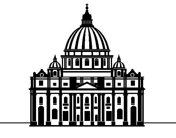 St. Peter's Basilica from Vatican City coloring page