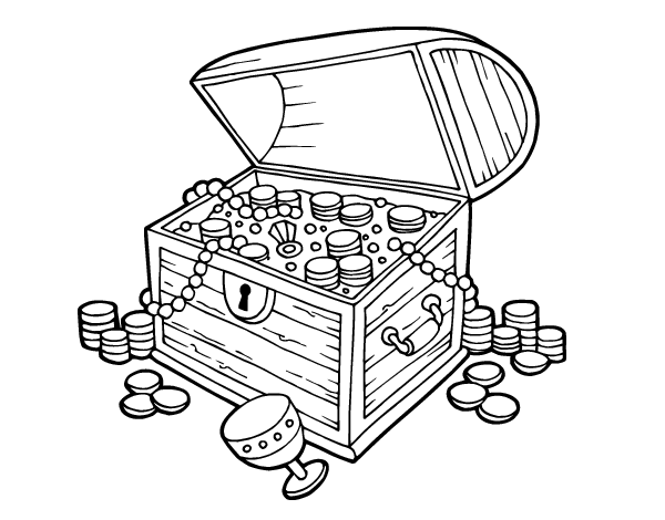 Free coloring pages of treasure