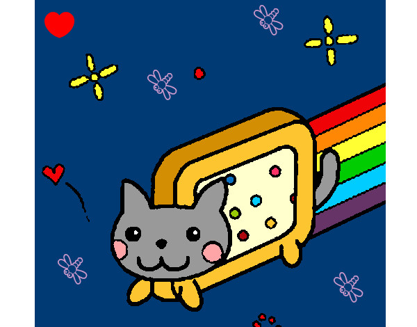 colored page nyan cat !! d paintedblossom