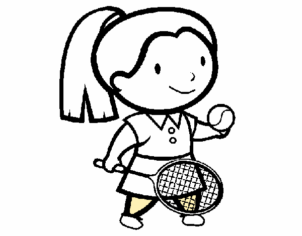 Colored page Female tennis player painted by User not