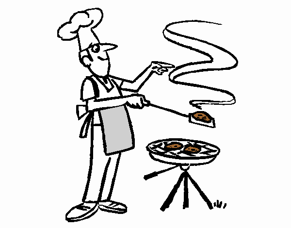 Colored page Barbecue painted by User not registered
