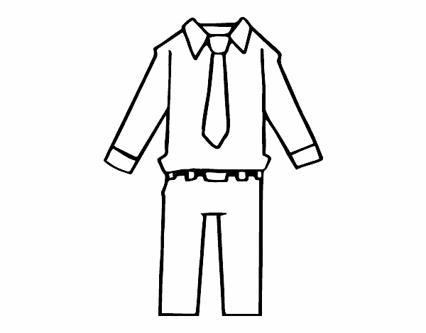 Colored page Mens clothing painted by User not registered
