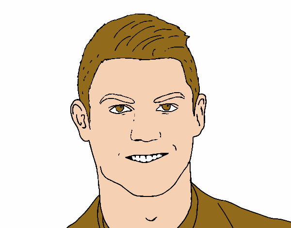 colored page cristiano ronaldo face painteduser not