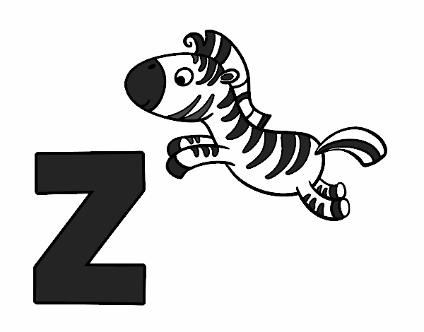 Colored page Z of Zebra painted by User not registered