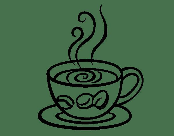 Cafe Con Leche Para Colorear