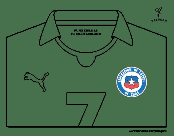 Desenho de Camisa da copa do mundo de futebol 2014 do