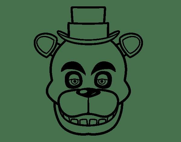 Desenho de Cara de Freddy de Five Nights at Freddy's para