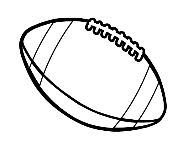 Coloriage de Balle de football américain pour Colorier