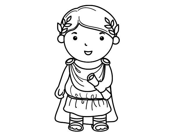 Coloriage de Jules César de l'enfant pour Colorier