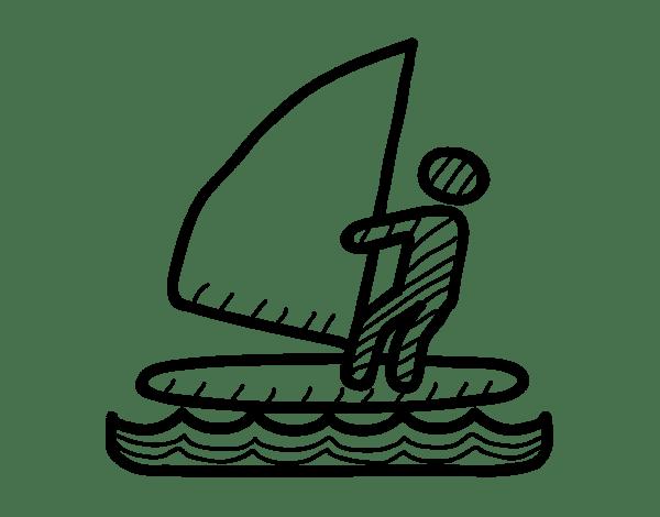 Coloriage de Signaux de planche à voile pour Colorier