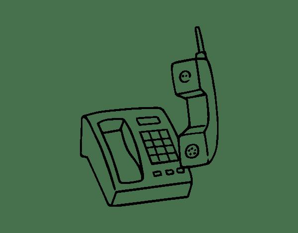 Colorir Desenho Telefone Sem Fio