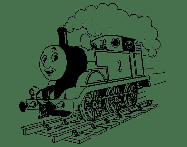 Coloriage de Thomas la locomotive 1 pour Colorier