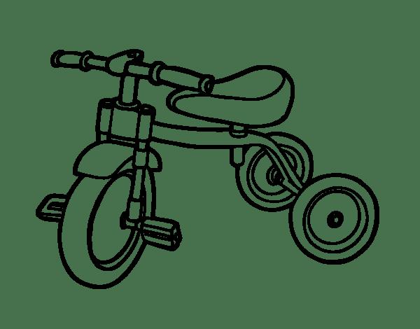 Coloriage de Tricycle pour enfants pour Colorier