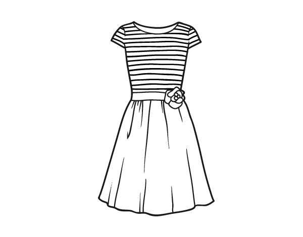 Coloriage de Vêtement décontracté pour Colorier
