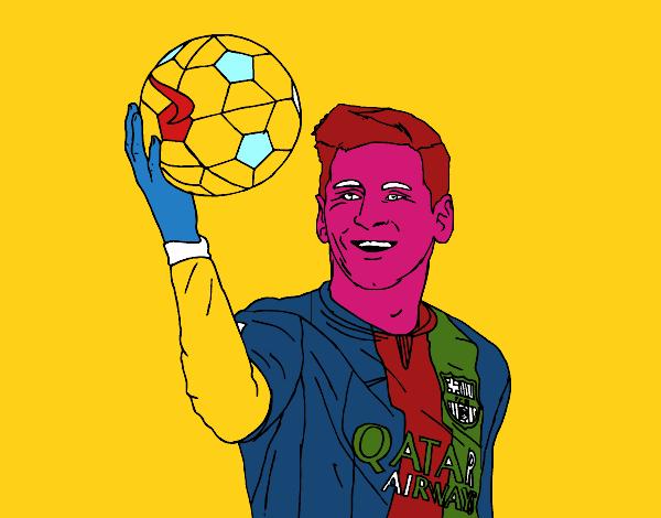 Dessins Des Usuaires Lionel Messi Colorie Par L