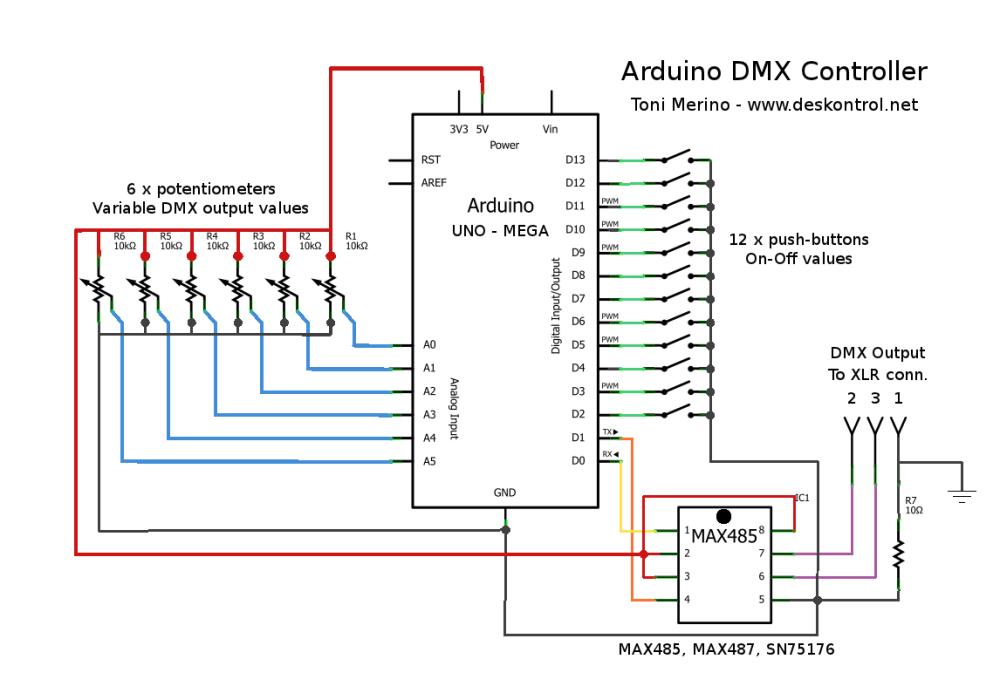 Wiring 4 Way Dmx - sparkfun esp32 dmx to led shield learn