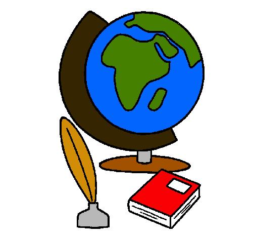 Dibujo de Bola del mundo pintado por Mica en Dibujos.net