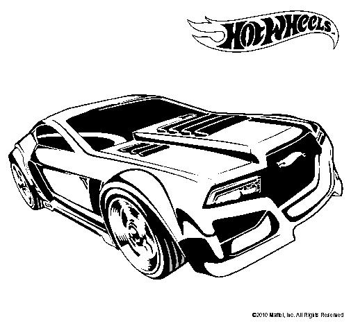 Dibujo de Hot Wheels 5 pintado por Spiderman en Dibujos
