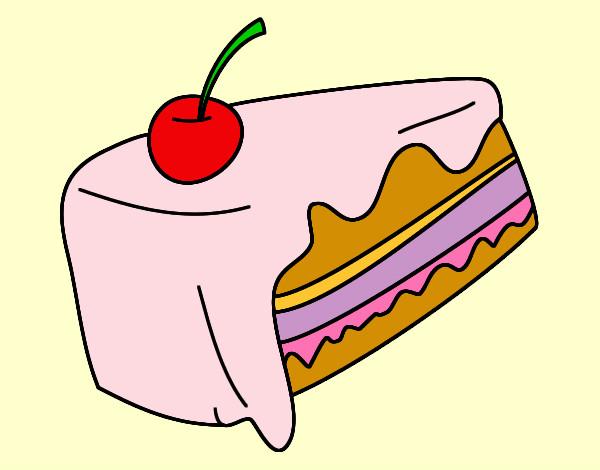 Dibujo de un pastel delisioso pintado por Natanatati en