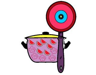 Dibujo de el utensilio de la cocina pintado por Vanesaa en