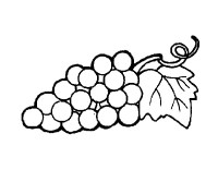 Dibujo de racimo de uvas pintado por Leitomp en Dibujos ...
