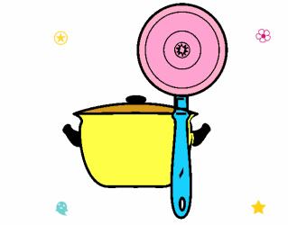 Dibujo de Utensilios de cocina pintado por en Dibujos net