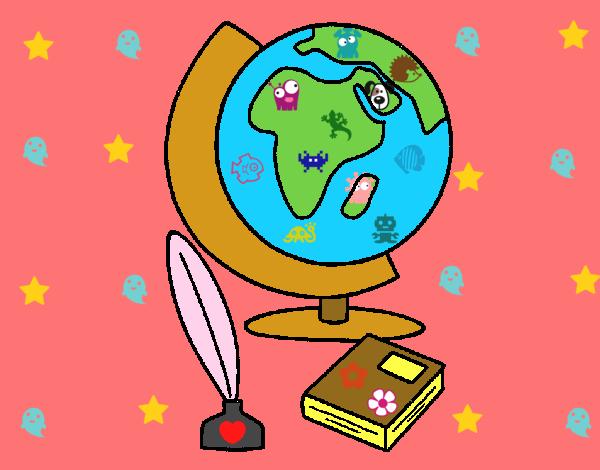 Dibujo de Bola del mundo pintado por en Dibujos.net el da