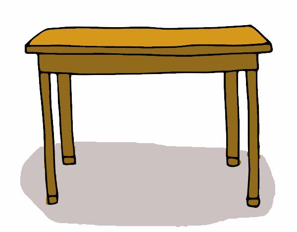 Dibujo de Mesa rectangular pintado por en Dibujosnet el