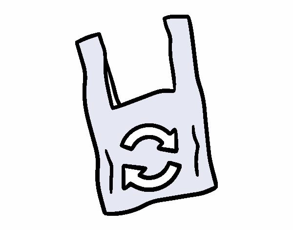 Dibujo de Bolsa de plstico biodegradable pintado por en