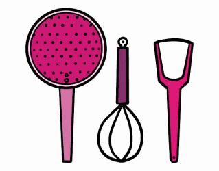 Dibujo de Los utensilios de cocina pintado por en Dibujos