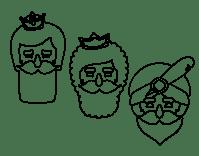 Dibujo de 3 Reyes Magos para Colorear - Dibujos.net
