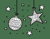 Dibujo de Adornos de Navidad para Colorear