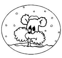 Dibujo de Ardilla en bola de nieve para Colorear - Dibujos.net