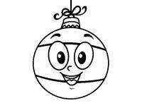 Dibujo de Bola de rbol de Navidad para Colorear