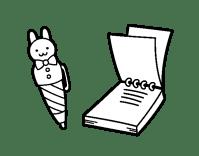 Dibujo de Bolgrafo infantil y libreta para Colorear