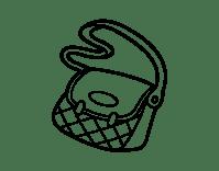 Dibujo de Bolso bandolera para Colorear