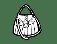 Dibujo de Bolso bonito para Colorear - Dibujos.net