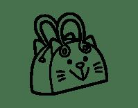 Dibujo de Bolso cara de gato para Colorear - Dibujos.net