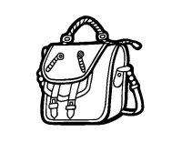 Dibujo de Bolso mochila para Colorear