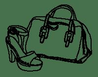 Dibujo de Bolso y zapato para Colorear