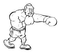 Dibujo de Boxeador para Colorear - Dibujos.net