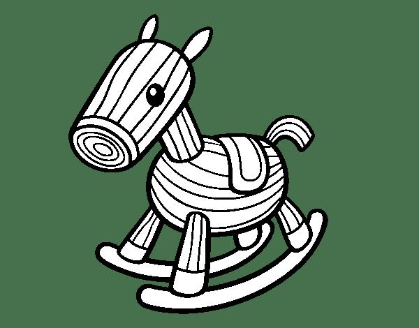 Dibujo de Caballito de madera para Colorear  Dibujosnet