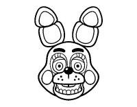 Dibujo de Cara de Toy Bonnie de Five Nights at Freddy's