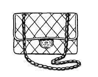 Dibujo de Clutch Chanel para Colorear